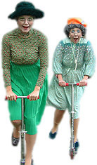 Polly and Esther, the hilarious Supergrans!