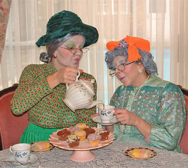 Supergrans love nothing more than having a natter and of course a nice cup of tea.