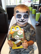 We have painted designs at kids film premieres transforming children into their favourite characters.