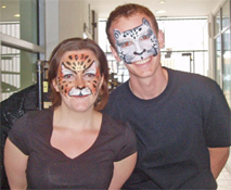 Bring your catering staff to life and have them face painted for an event.