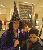 Matilda the Face Painting Witch is always in demand at Halloween.