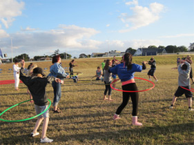 Kim Jackson A.K.A. 'Hoop Sister' creates fun filled hoop dance classes and workshops