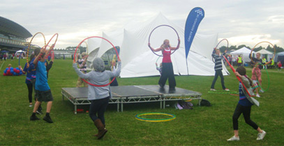 Regardless of fitness level, everybody can learn to hula hoop