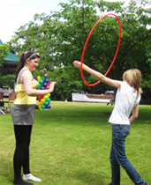 Hula hooping improves flexibility and coordination