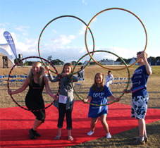Hula hooping boosts energy levels