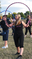 Hula hooping improves self confidence