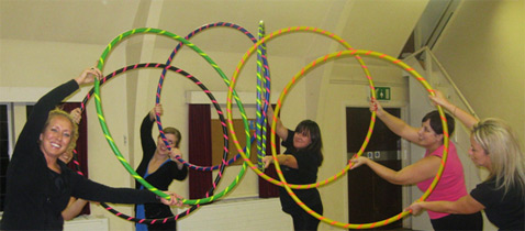 Not only is hula hooping it a fantastic way to get into shape it is also very sociable too