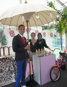Our Ice Cream Trike is always a hit with a selection of flavours, served in cones or tubs with sprinkles and sauce